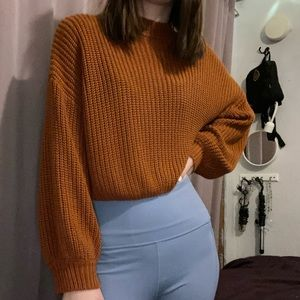 Cropped Orange Sweater